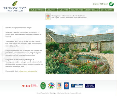 Tregongeeves Farm Cottages - Self Catering Holiday Accommodation in Cornwall